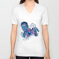 daryl dixon V-neck T-shirts featuring Daryl Dixon // OUT/CAST by Largetosti
