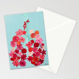 Simply Breathe - Lungs For Whitney Stationery Cards
