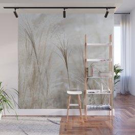 Light Neutral Soft Ornamental Grasses Wall Mural