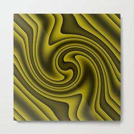 Cosmic Gold Twirls Metal Print