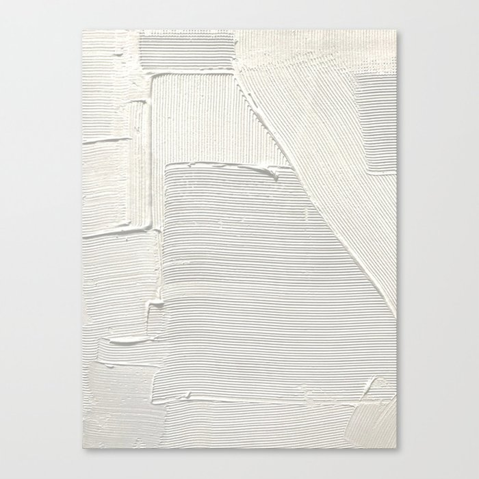Relief [2]: an abstract, textured piece in white by Alyssa Hamilton Art Leinwanddruck