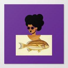 Postcard Fashion in Purple Canvas Print