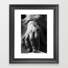 Grandma's Hands Framed Art Print