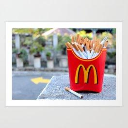 Smoked Fries Art Print