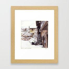 White Staircase Framed Art Print