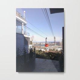 Barcelona's Port Cable Car - The 'Transbordador Aeri del Port' Metal Print