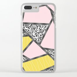 Pink yellow black Clear iPhone Case