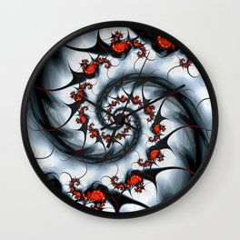 Fractal Art - Fire and Ice Wall Clock