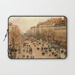 """Camille Pissarro """"Boulevard Montmartre à Paris"""" Laptop Sleeve"""