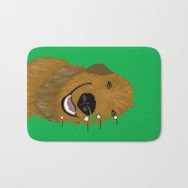 Goldendoodle in Grass Bath Mat