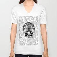 sugar skull V-neck T-shirts featuring Sugar Skull.  by Digi Treats 2