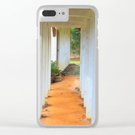 Old Florida Breezeway Clear iPhone Case