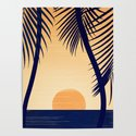 Retro Golden Sunset - Tropical Scene by kristiangallagher