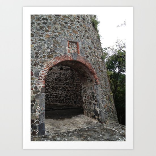 Virgin Islands, St. John, Danish Sugar Mill Stone Ruins Art Print