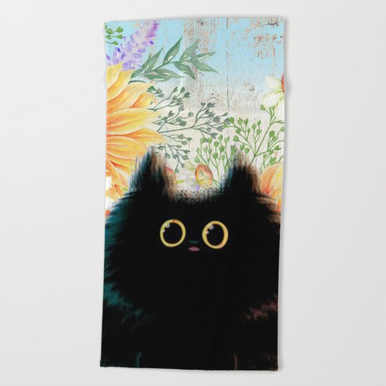 Sweet animal #6 Beach Towel