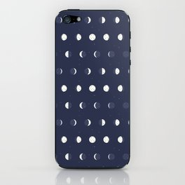 Waxing and Waning Phases of the Moon Pattern iPhone Skin