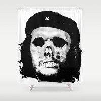che Shower Curtains featuring Che Calavera by Oscar Sierra