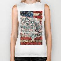 usa Biker Tanks featuring USA  by Bekim ART