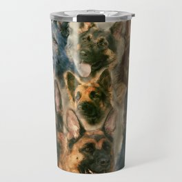 German Shepherd dog - GSD collage Travel Mug