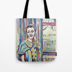 Smile Girl Tote Bag