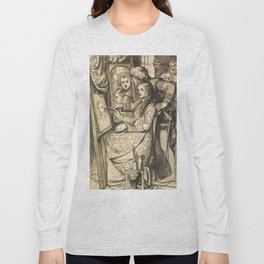 "Dante Gabriel Rossetti ""Love's Mirror or a Parable of Love"" Long Sleeve T-shirt"