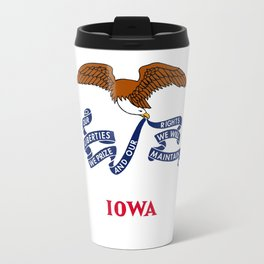 flag of Iowa, america, usa, midwest,Council Bluffs, Iowan,Des Moines,Cedar Rapids,Davenport,sioux Travel Mug