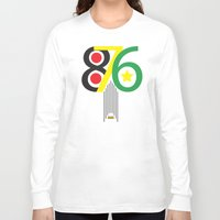 jamaica Long Sleeve T-shirts featuring 876 Jamaica Area Code Print by Ahfimi Brands