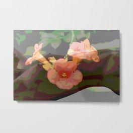 Trumpet Flower Girl  Metal Print
