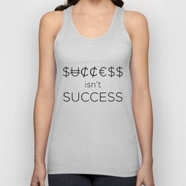 Money doesn't buy happiness Unisex Tank Top