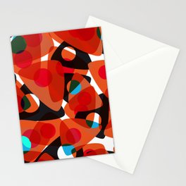 orange 70s Stationery Cards