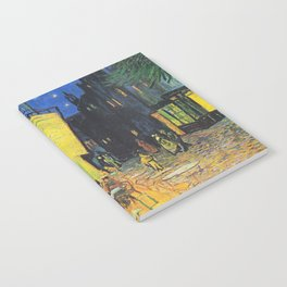 Café Terrace at Night by Vincent van Gogh Notebook