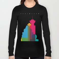 Shapes of Vancouver. Accurate to scale. Long Sleeve T-shirt