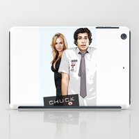 chuck iPad Cases featuring Chuck Chuck by SyafSyaf