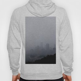 Foggy Pittsburgh Skyline Hoody