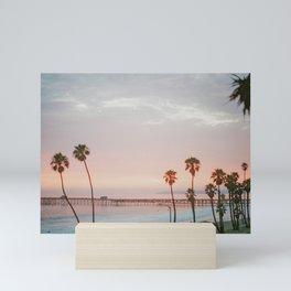 palm trees sunset ii / san clemente, california Mini Art Print