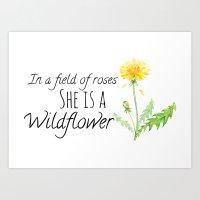 She is a Wildflower Art Print