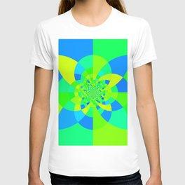 Green & Turquoise Kaleidoscope Design T-shirt