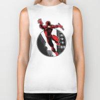 daredevil Biker Tanks featuring Daredevil by Atom Manhattan