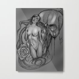 Rose sketch Metal Print