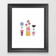 Floral Pots Framed Art Print