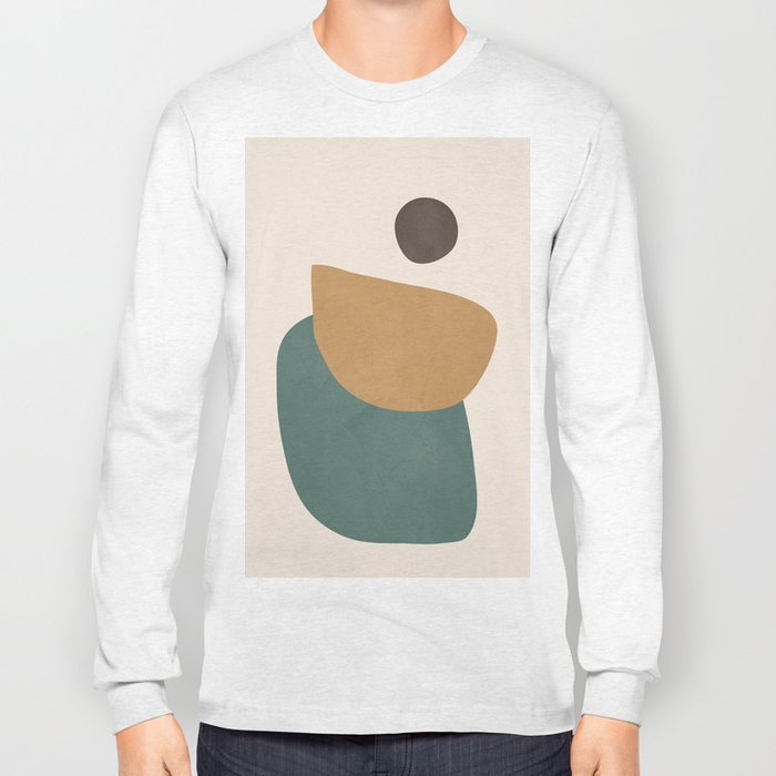 Abstract Minimal Shapes III Long Sleeve T-shirt