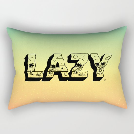 LAZY Rectangular Pillow