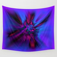 angel wings Wall Tapestries featuring Angel Wings by Artist TLynn Brentnall