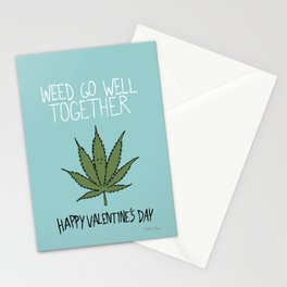 Weed Go Well Together Stationery Cards