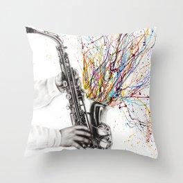 The Jazz Saxophone Throw Pillow
