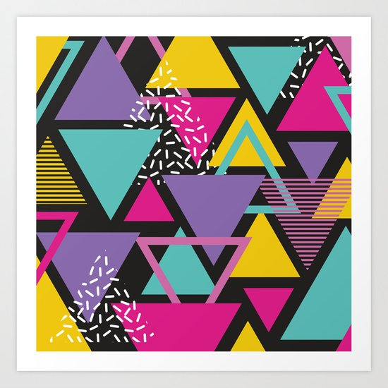 Back To The 80's Pattern Art Print