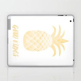 Good Vibes: Gold Pineapple Laptop & iPad Skin