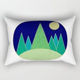 Dark Night Forest Rectangular Pillow