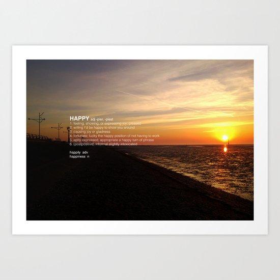 A HAPPY SUNSET Art Print