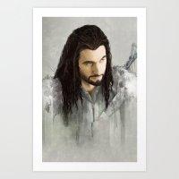 thorin Art Prints featuring Thorin by Alba Palacio